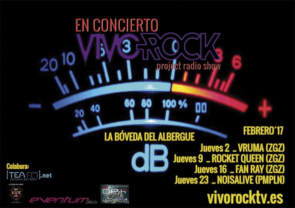 VivoRock En Concierto: Programación de Febrero '17