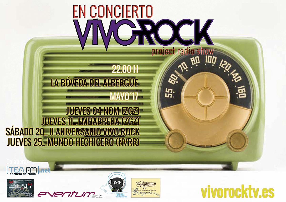 Vivo Rock En Concierto: Programación de Mayo'17