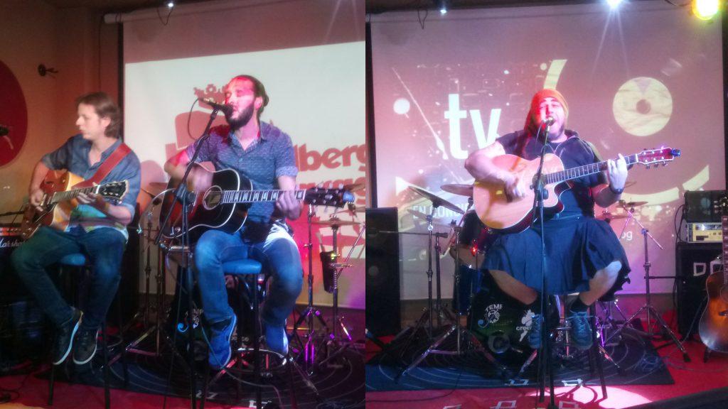 Izda: Alejandro Castro y Luis Anthony. Dcha: Federico Báez.