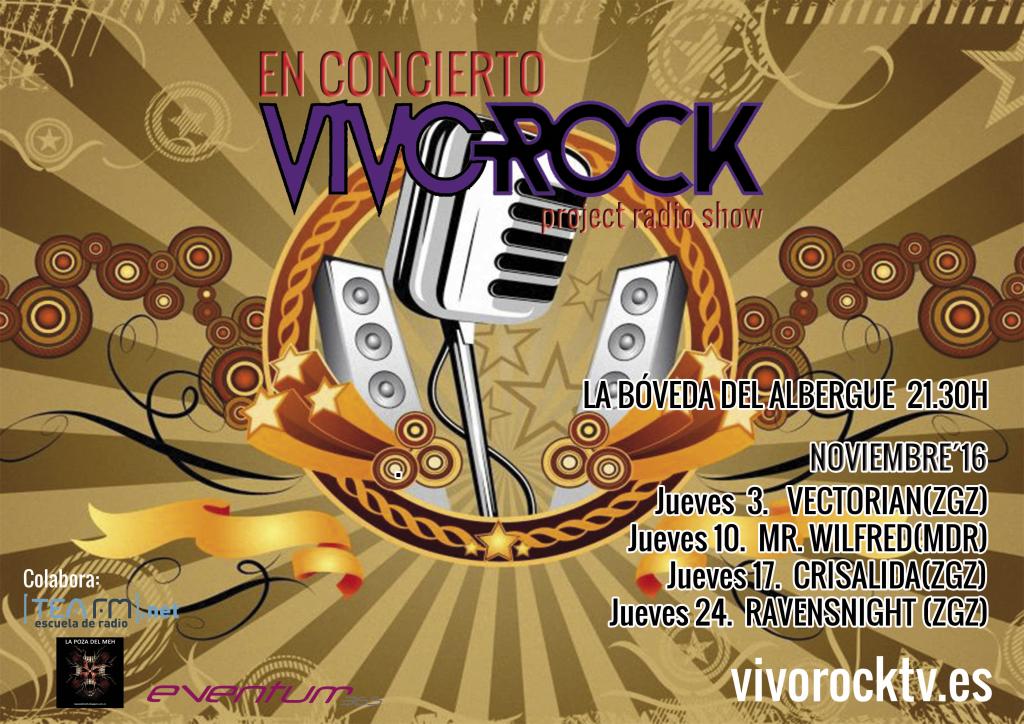 VivoRock En Concierto: Programación de Noviembre.