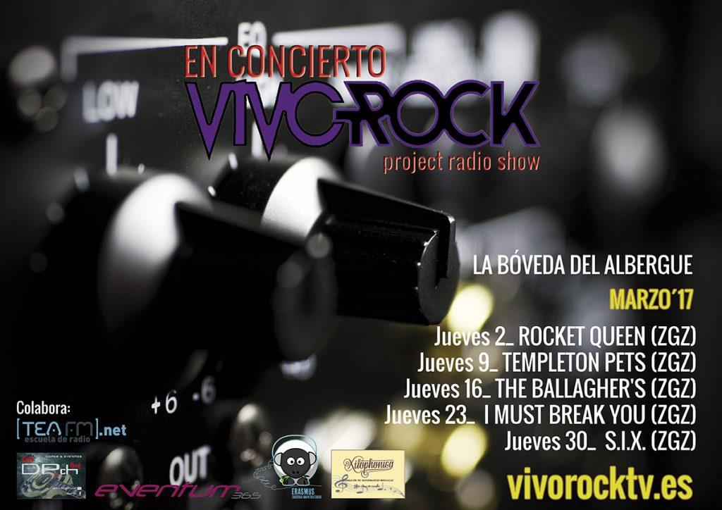 VivoRock En Concierto: Programación de Marzo '17