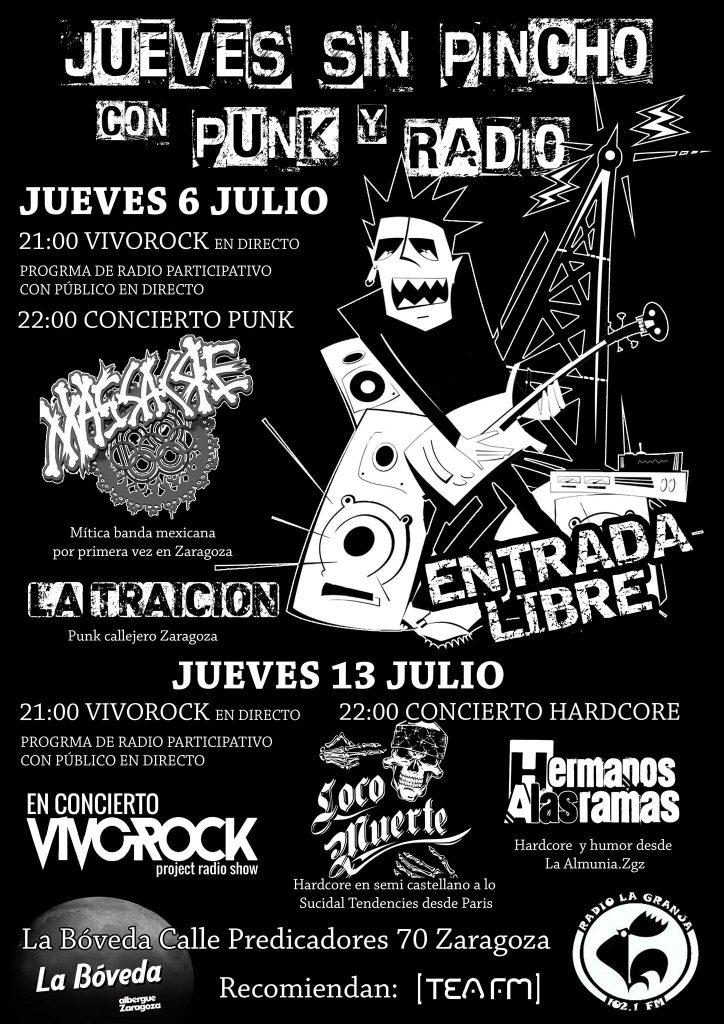 """Cartel """"Jueves sin pincho con Punk y Radio"""""""