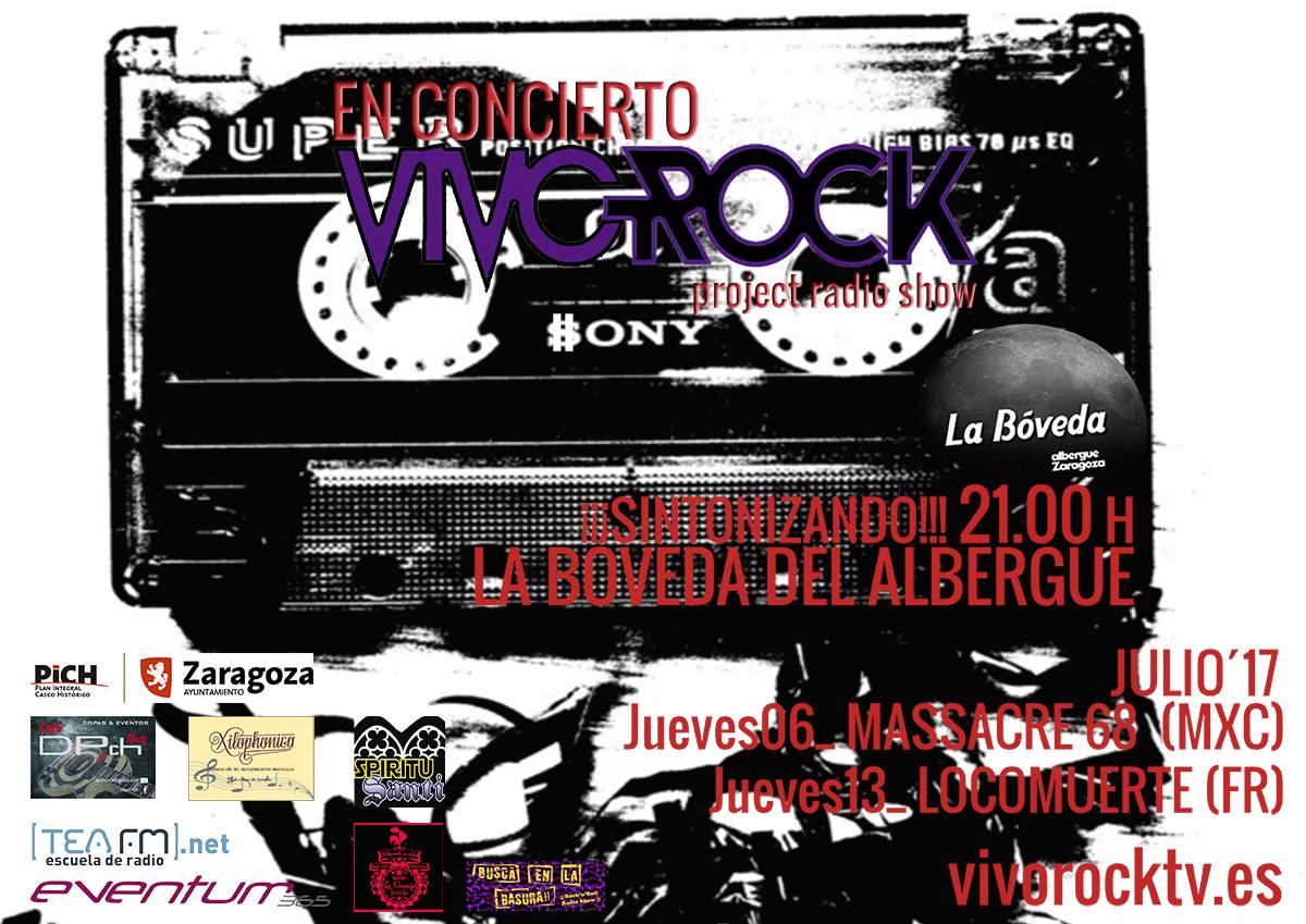 Vivo Rock En Concierto: Programación de Julio '17
