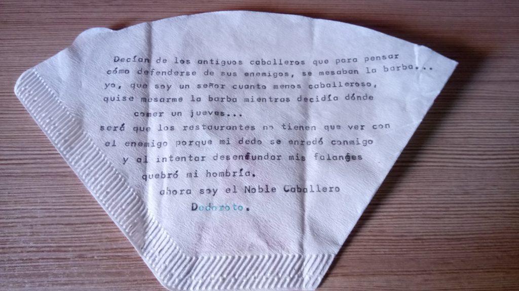 Poema improvisado de Bea Royuela