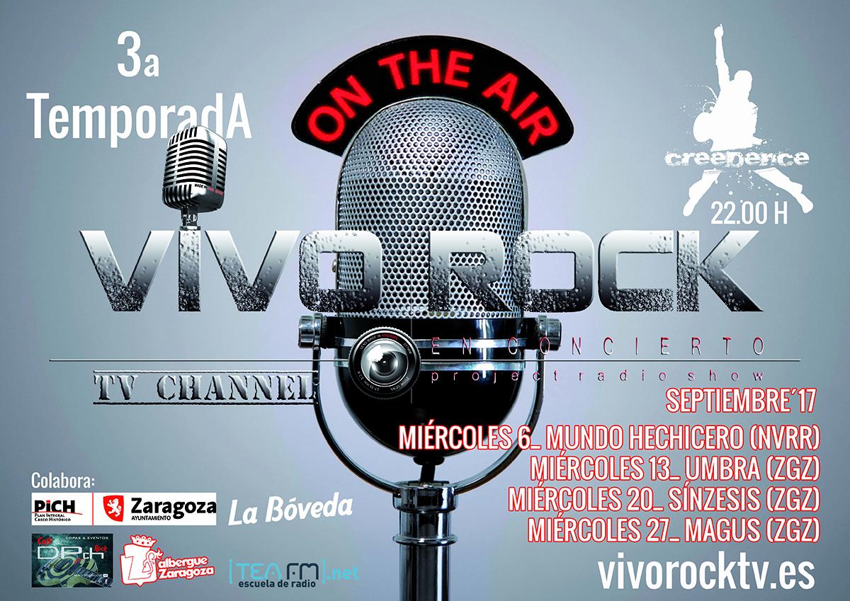 Vivo Rock En Concierto: Programación de Septiembre '17