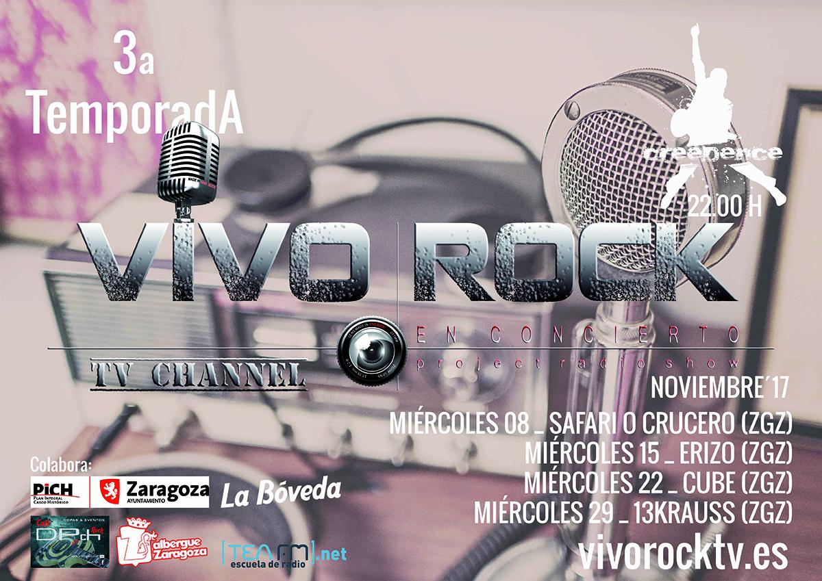 Vivo Rock En Concierto: Programación de Noviembre '17