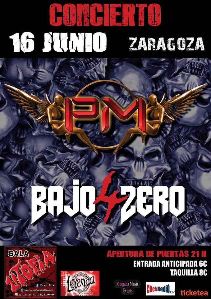 PM y Cuatro Bajo Zero en Zaragoza