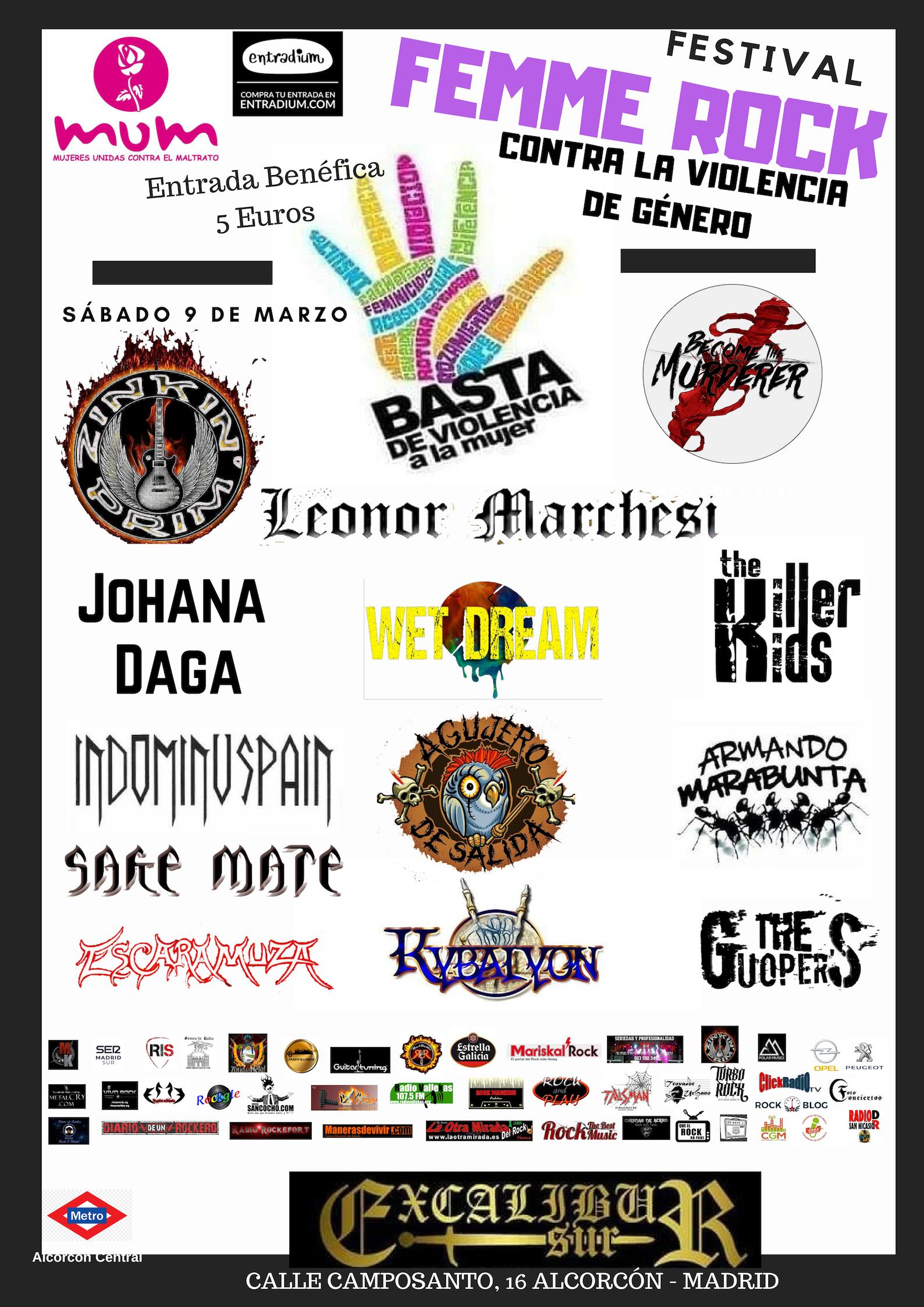 Festival Femme Rock - Sábado 9 de marzo.