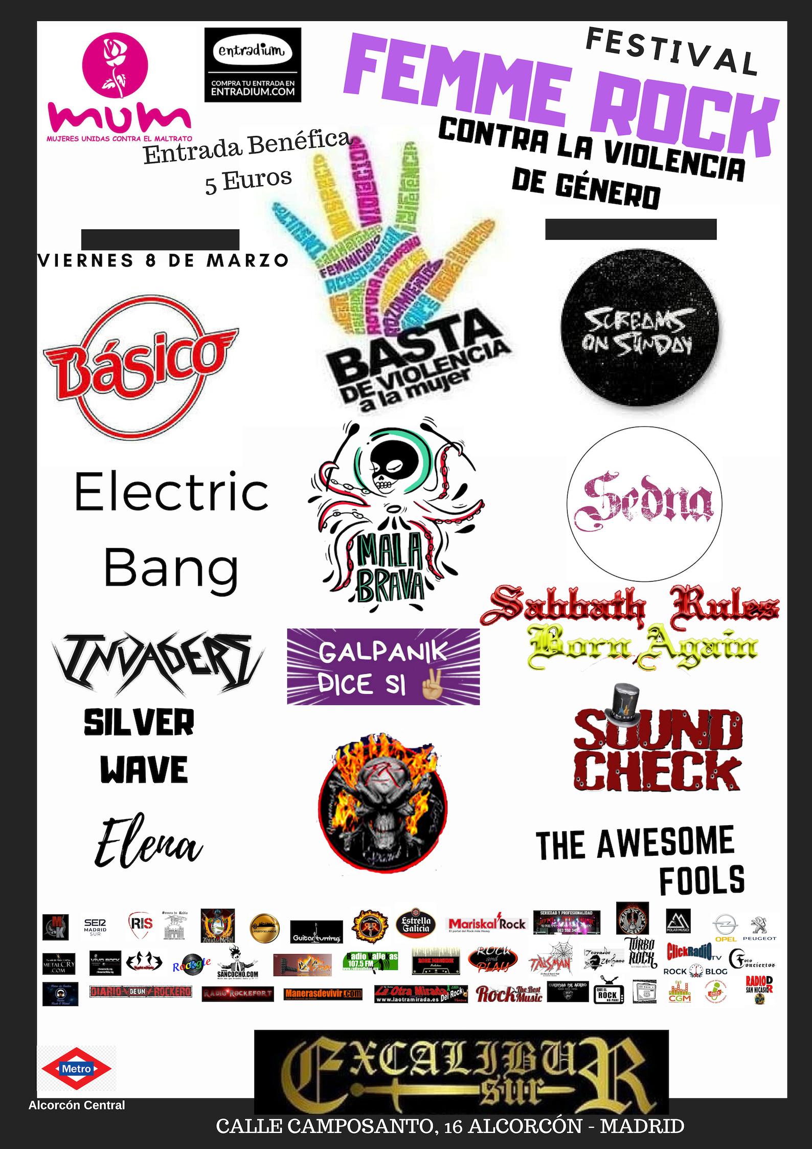 Festival Femme Rock - Viernes 8 de marzo.