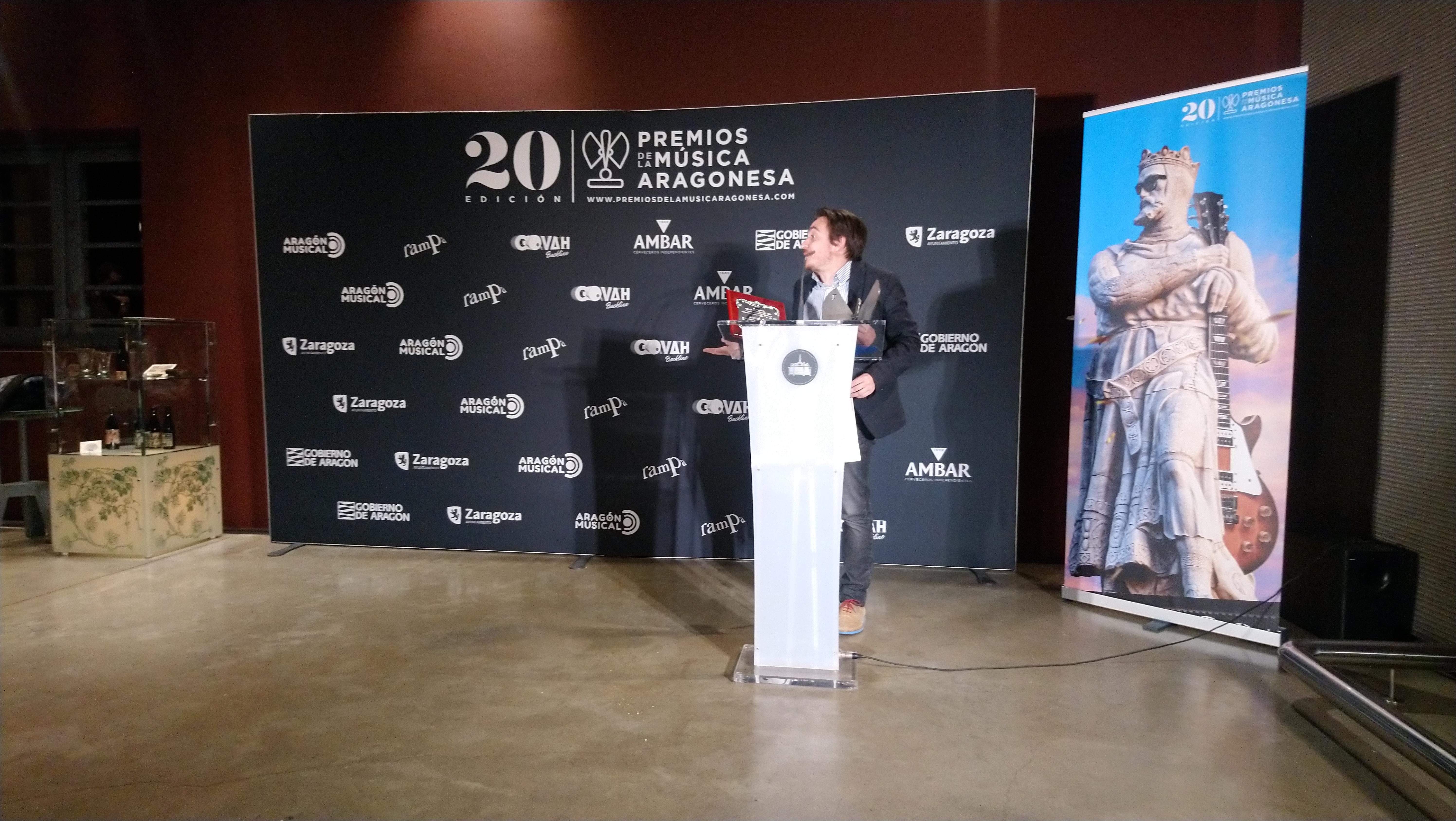 XX Premios de la Música Aragonesa. Nacho Escuín, director general de Cultura y Patrimonio de Gobierno de Aragón.