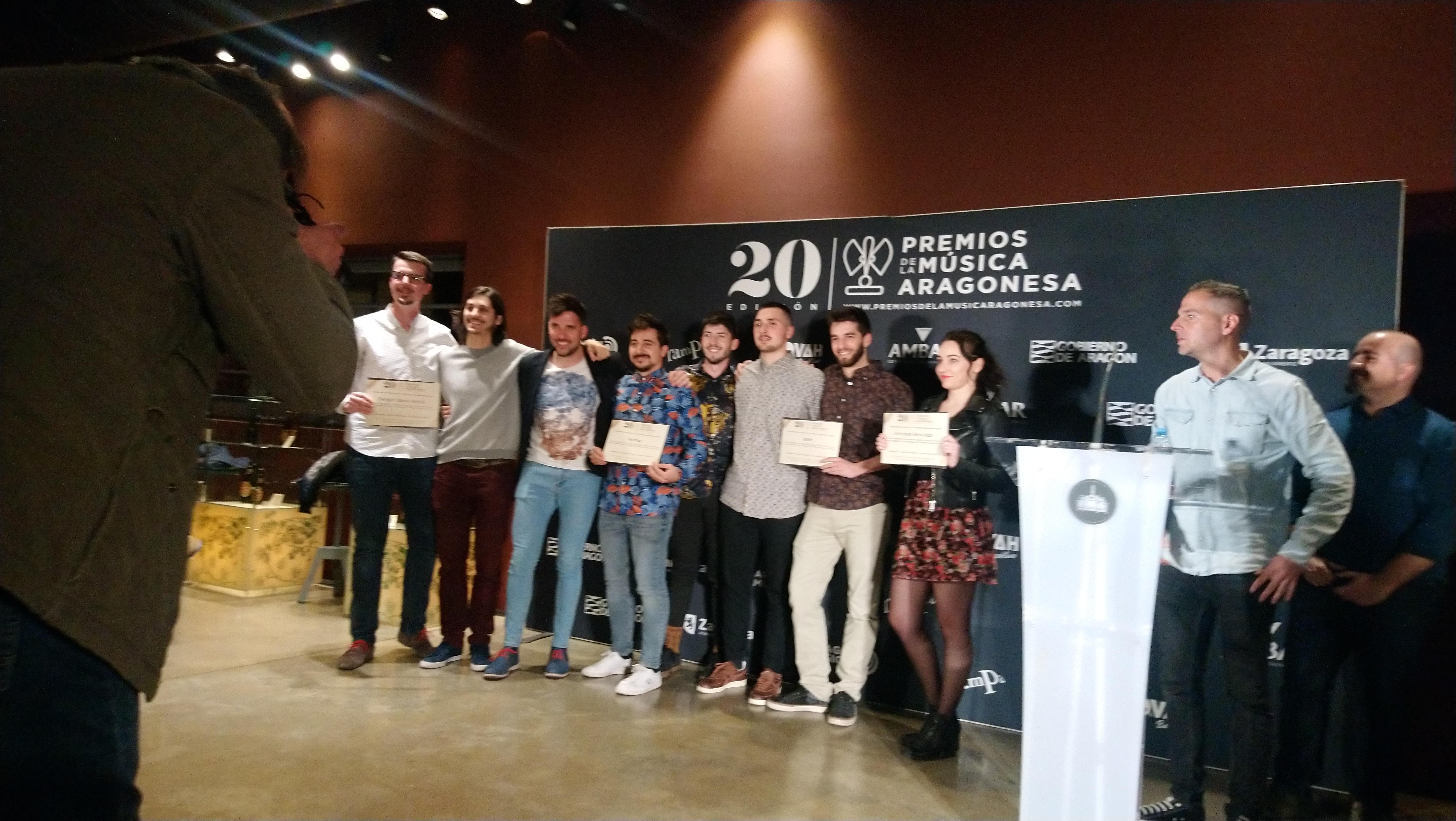 XX Premios de la Música Aragonesa. Nominados a Mayor Proyección.
