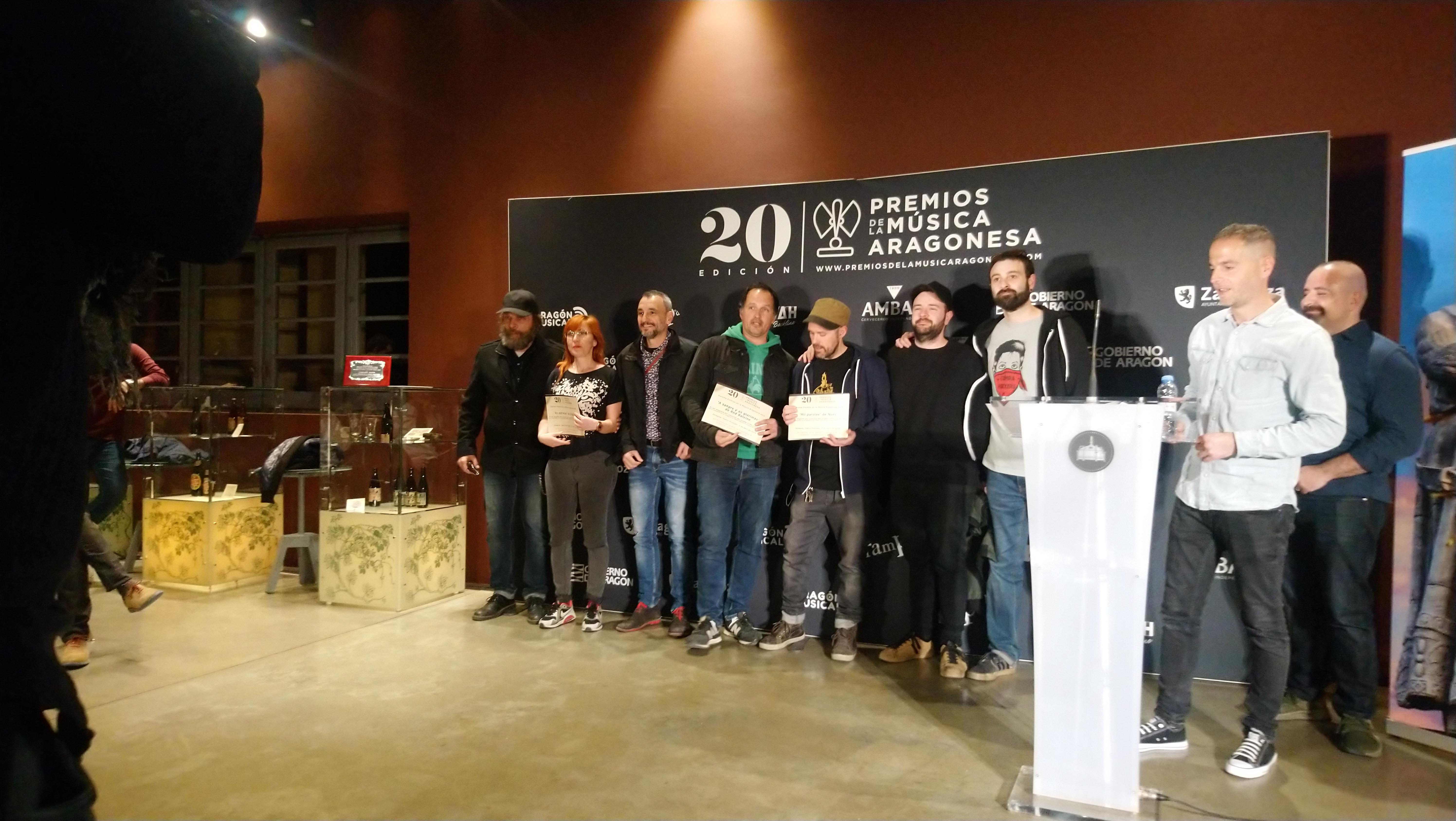 XX Premios de la Música Aragonesa. Nominados a Mejor Canción en Lengua Autóctona.
