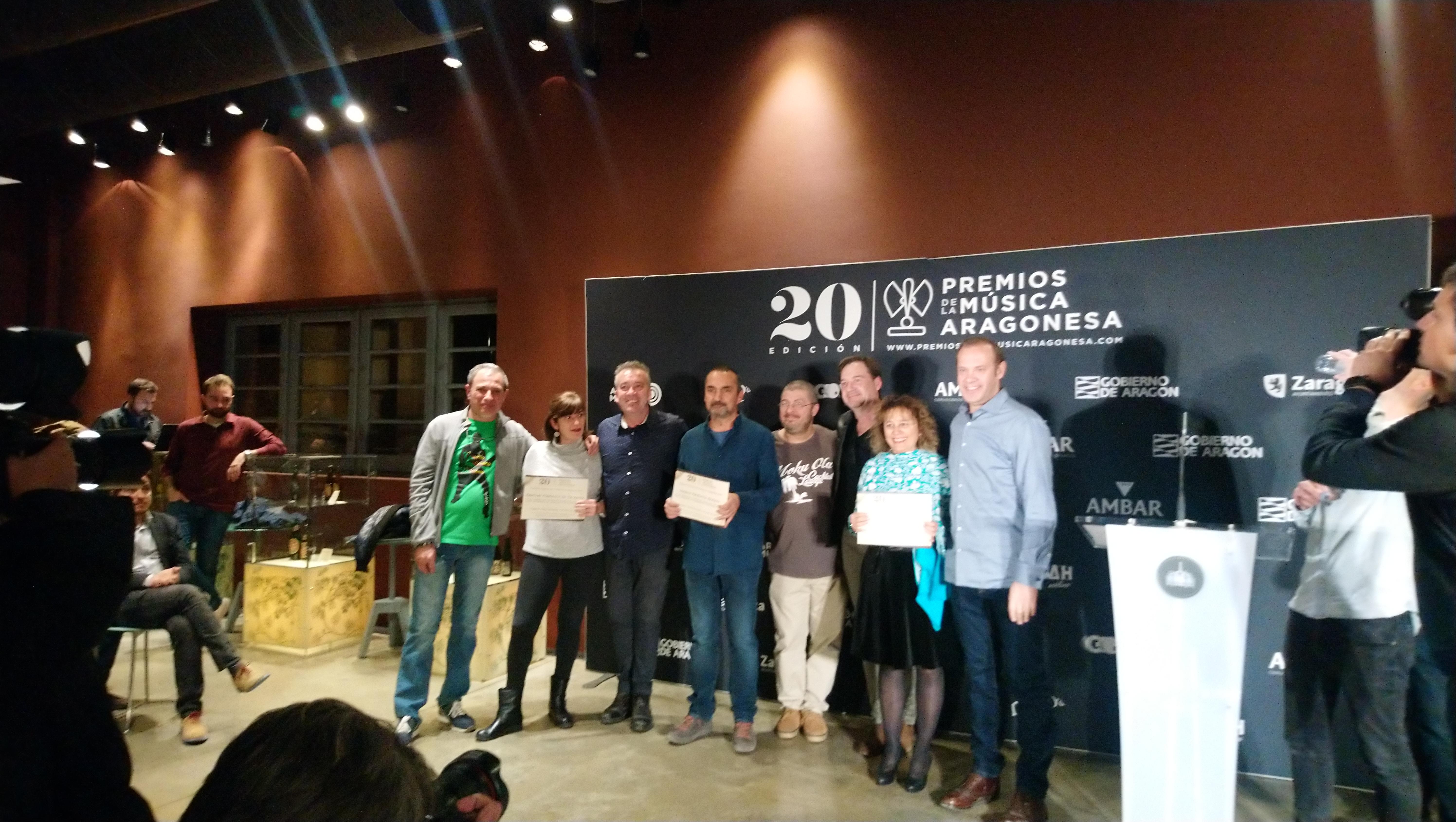 XX Premios de la Música Aragonesa. Nominados a Otras Músicas.