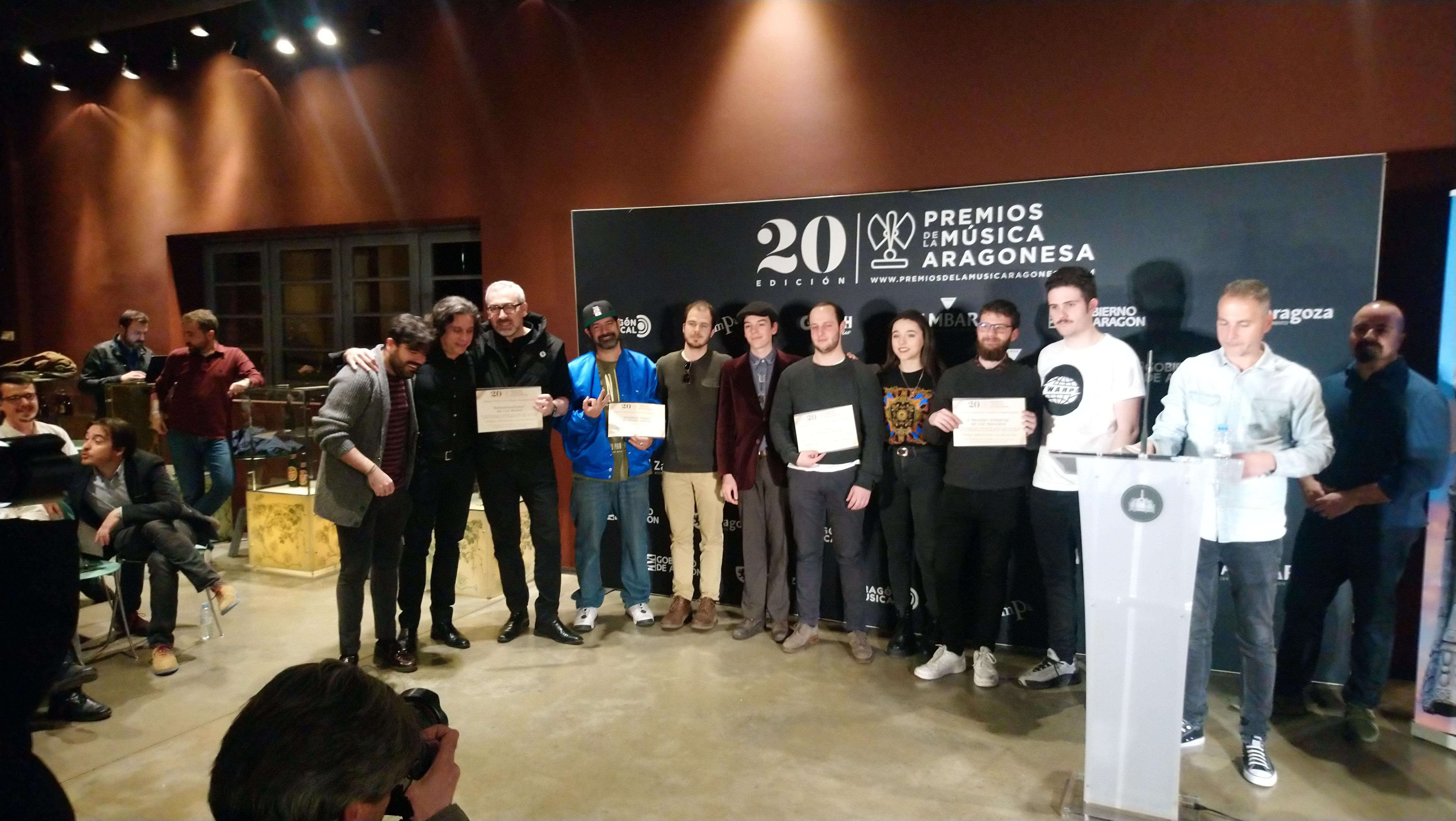 XX Premios de la Música Aragonesa. Nominados a Mejor EP.