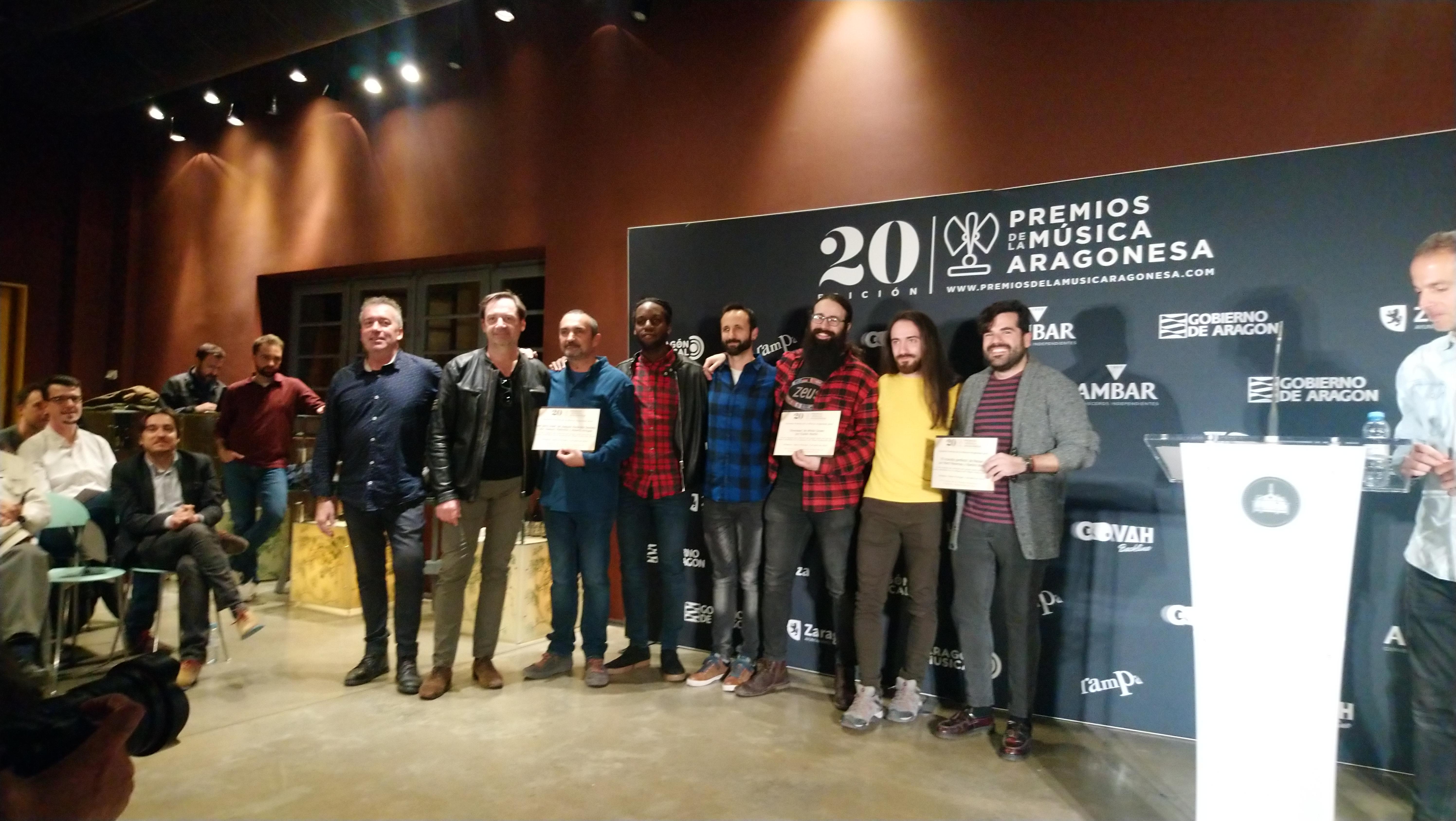XX Premios de la Música Aragonesa. Nominados a Mejor Producción.