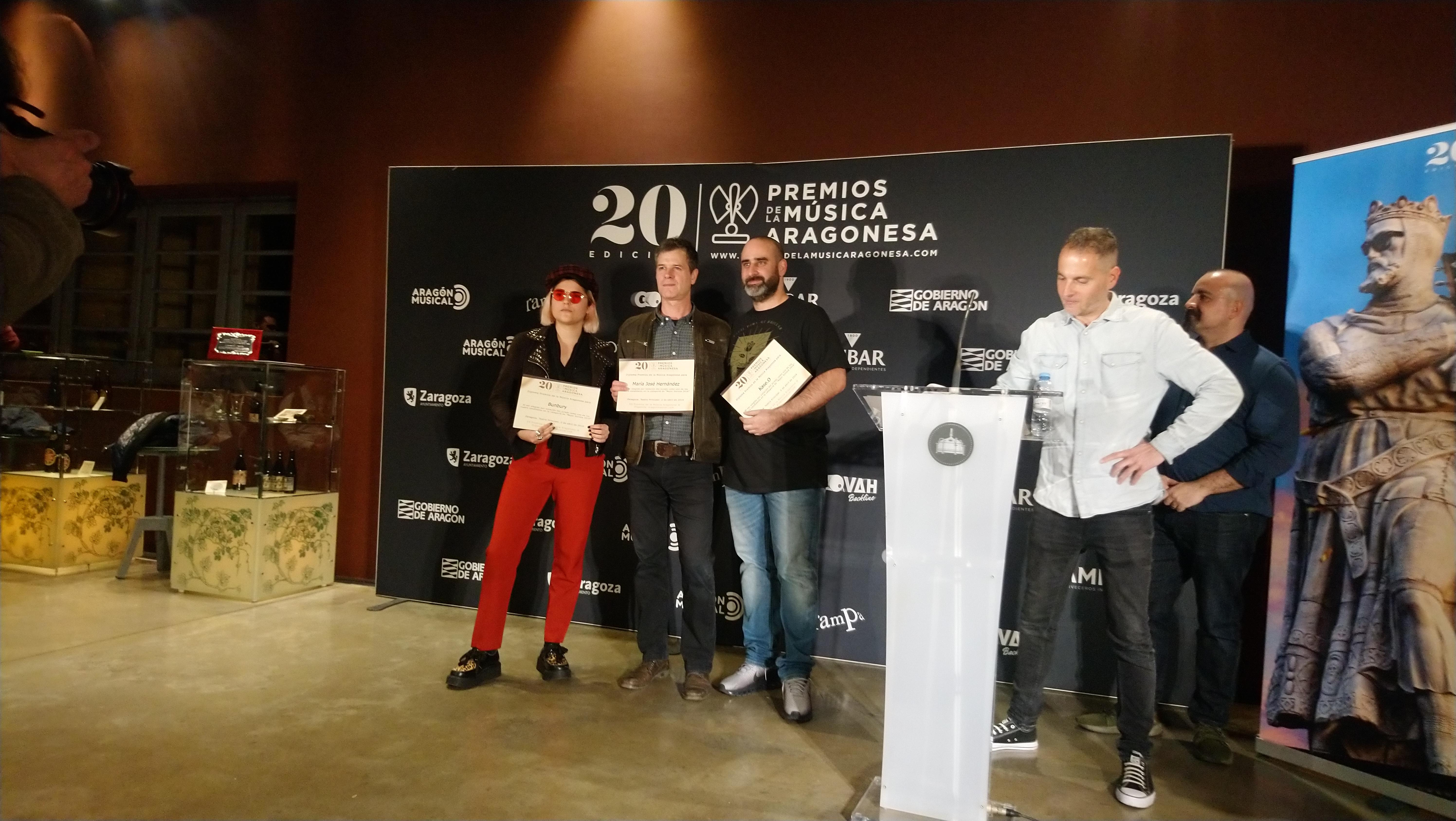 XX Premios de la Música Aragonesa. Nominados a Mejor Solista.