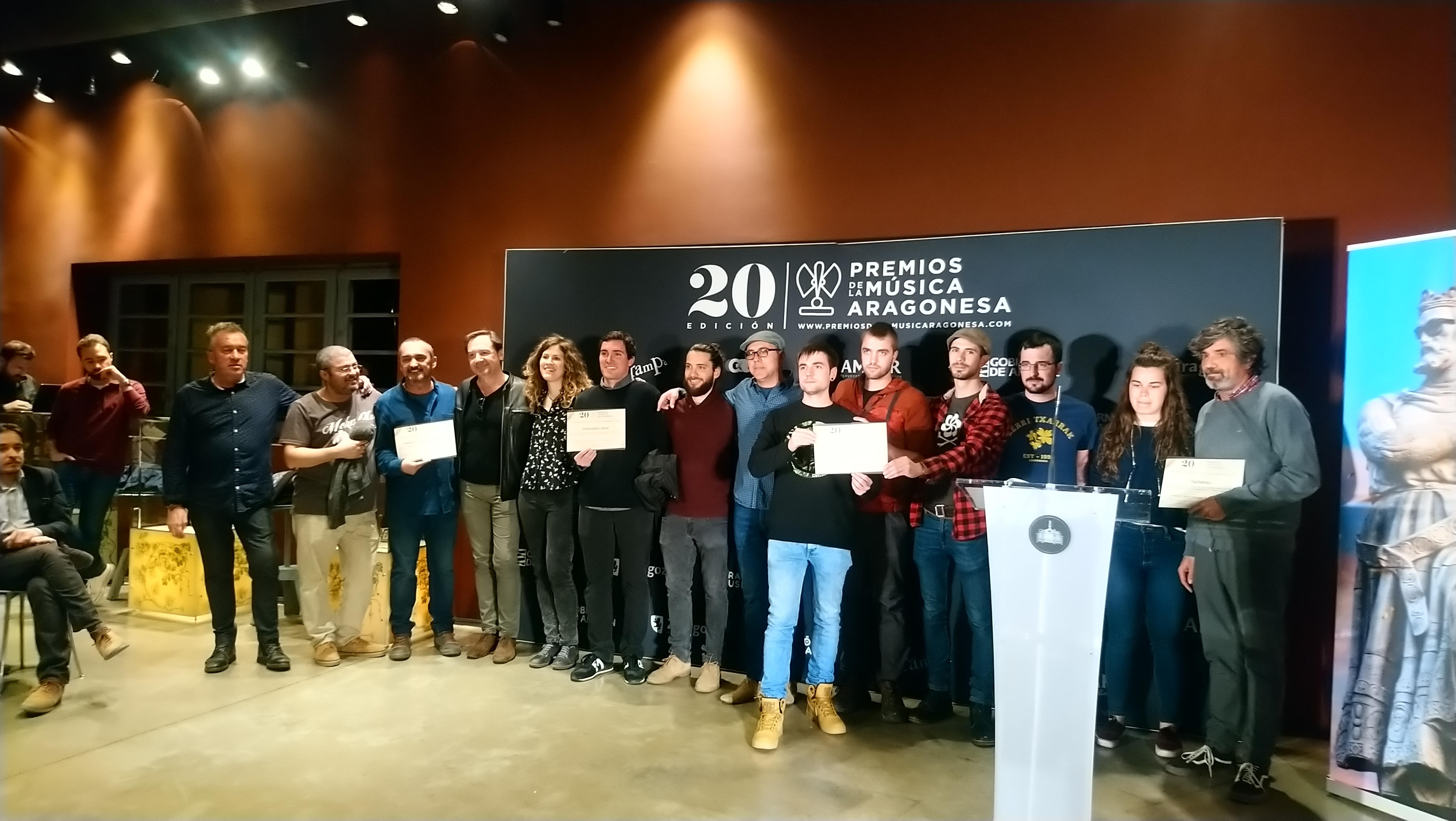 XX Premios de la Música Aragonesa. Nominados a Mejor Grupo.
