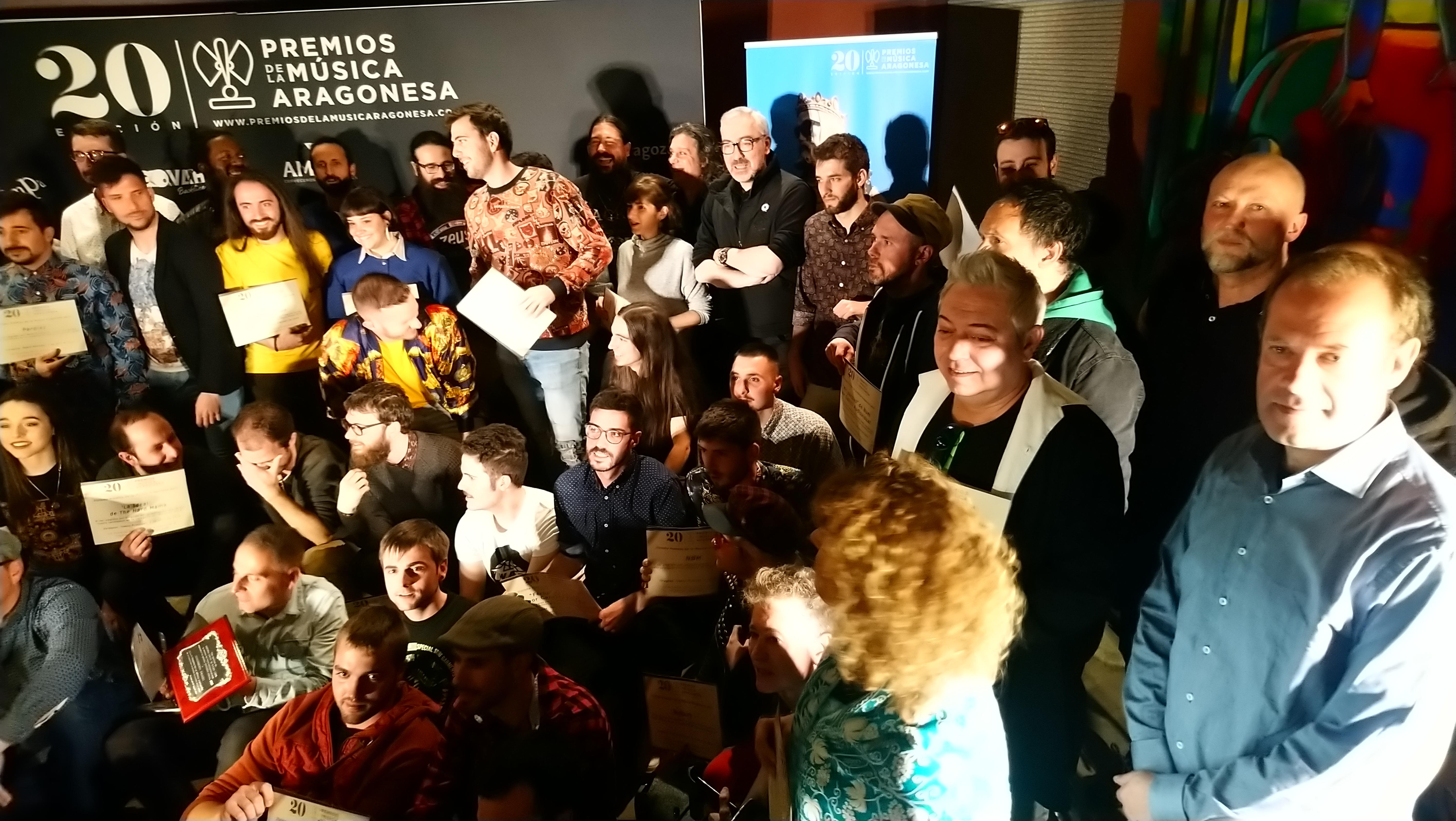 XX Premios de la Música Aragonesa. Foto de Familia.