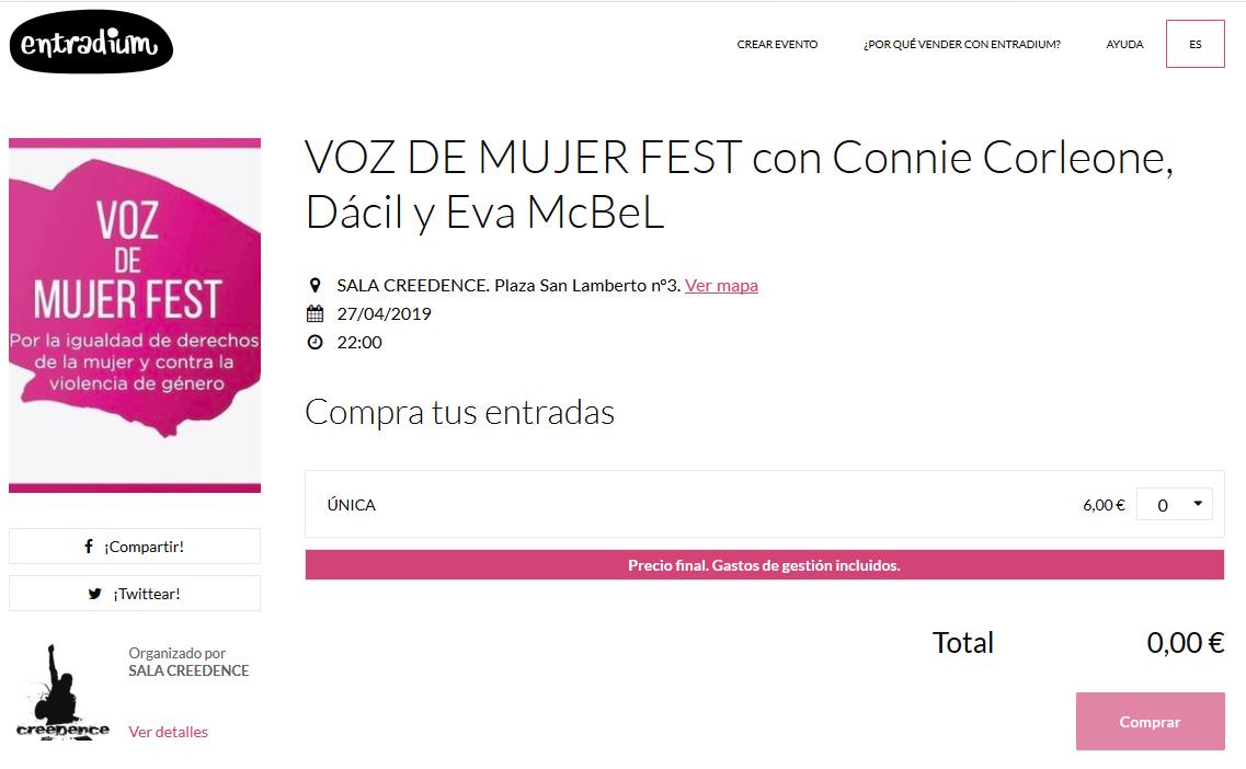 Entradas anticipadas Voz De Mujer Fest