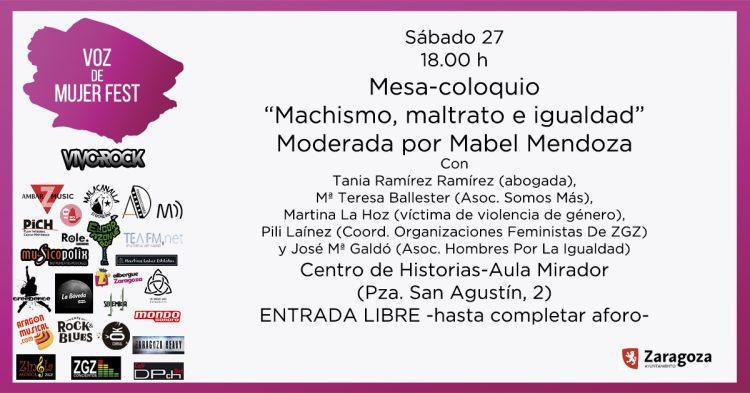 """Mesa redonda """"Machismo, Maltrato e Igualdad"""""""