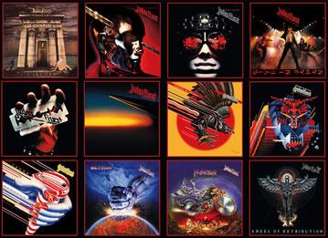 Portadas de los álbumes clásicos de Judas Priest.