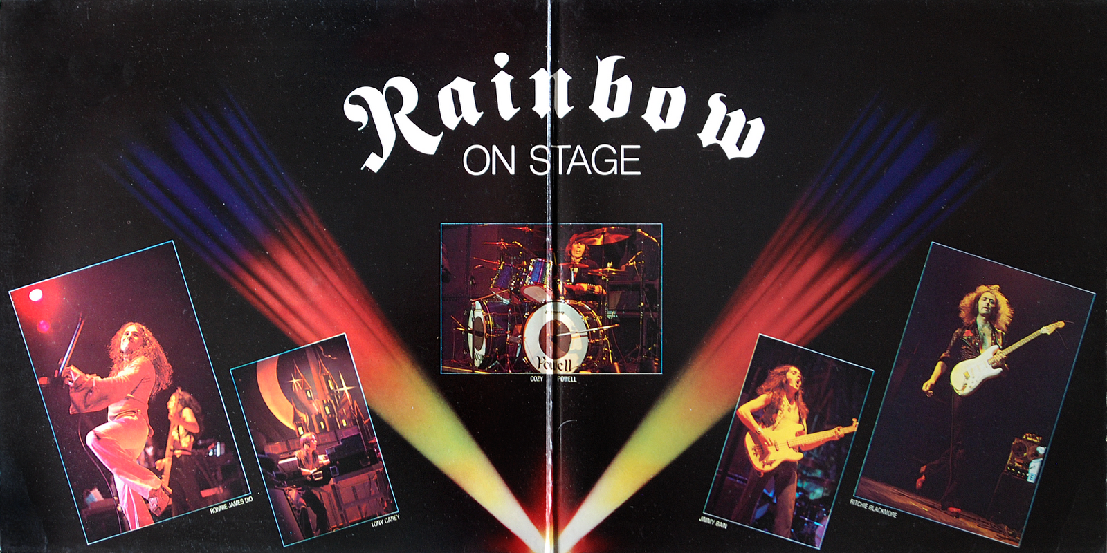 Rainbow: On Stage. Interior de carpeta.