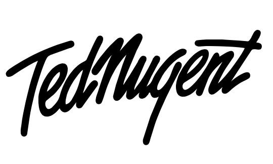 Logo/firma de Ted Nugent.