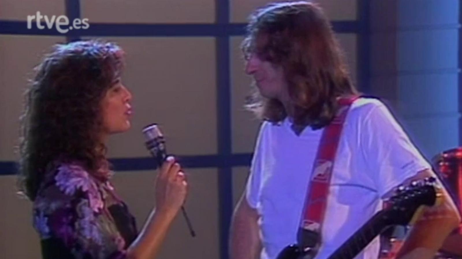 Rosendo en el programa 3x4 de TVE de 1990.