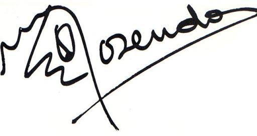 Logotipo/firma de Rosendo.