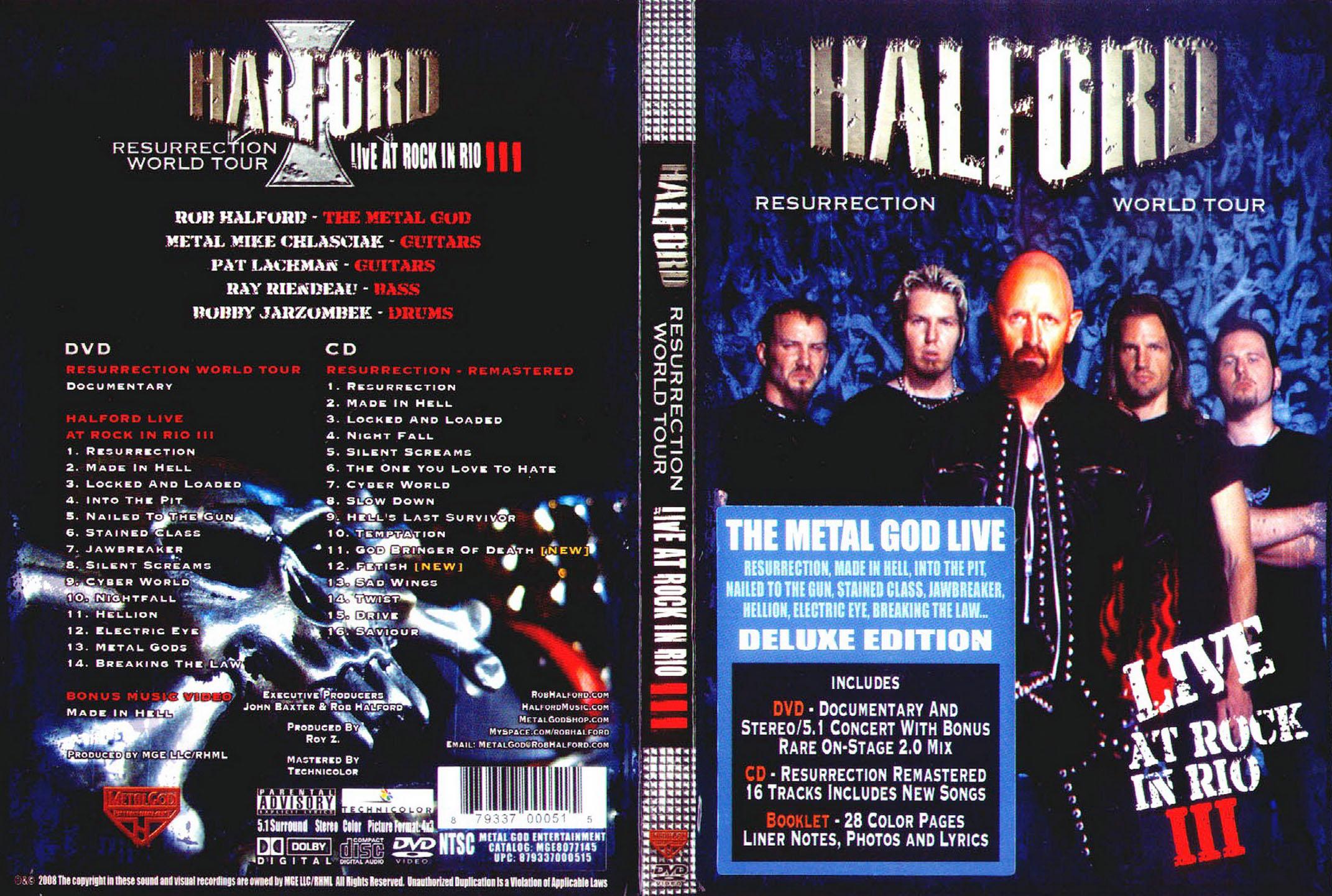 Halford: Portada de DVD